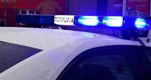 Policija rotacija na automobilu