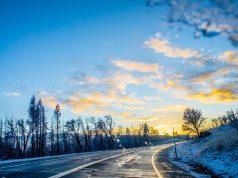 Put, poledica, zima, oblaci