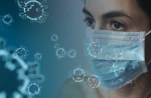 Koronavirus, žena sa maskom