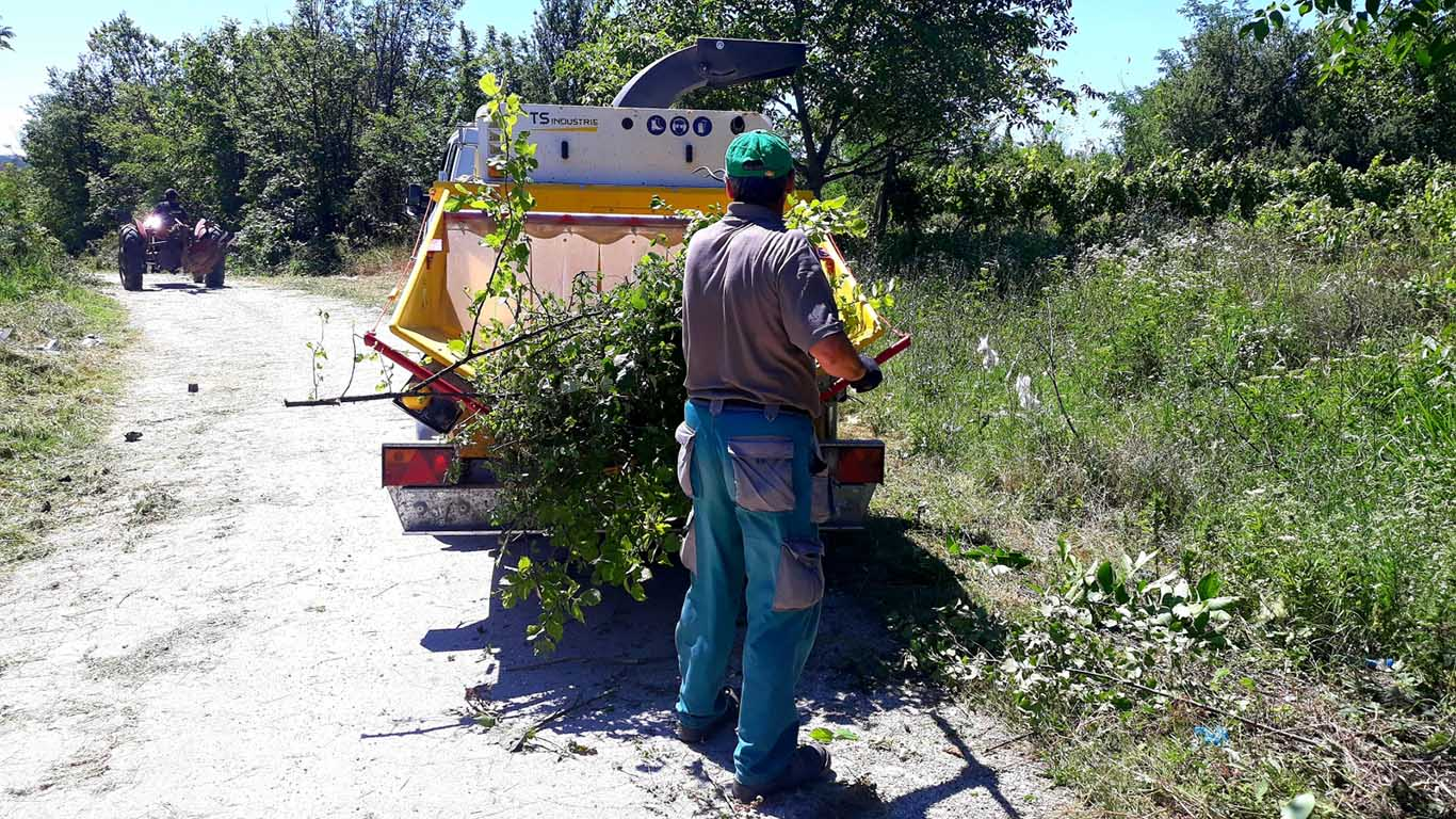 Čišćenje pored puta Brusnik - Tabakovac