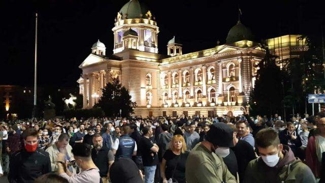 Demonstranti Skupština Srbije