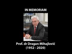 In memoriam: Dragan Mihajlović
