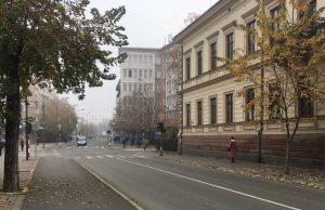 Zaječar, desno O.Š. Ljuba Nešić, novembar, jesen
