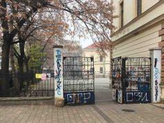 Ulaz u školsko dvorište O.Š.Ljuba Nešić u Zaječaru