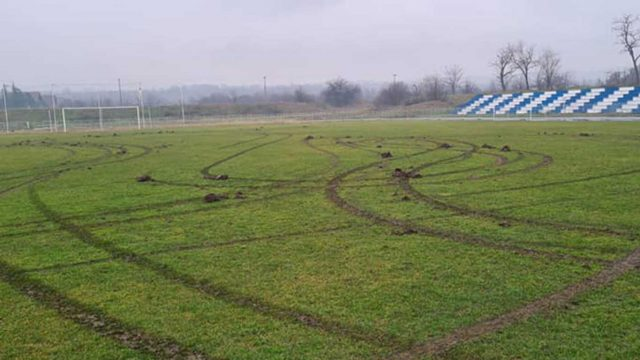 Stadion u kladovu - vandalizam