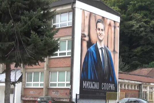 Mihajlo Sporić mural u Majdanpeku